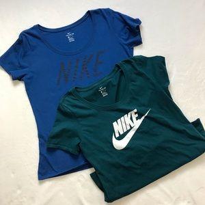 NIKE Size Medium 2 T-Shirt Bundle